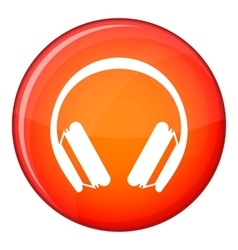 Protective headphones icon flat style vector