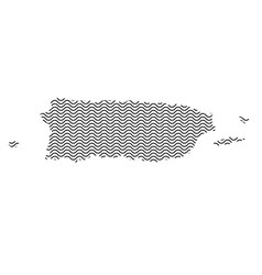 Puerto rico map country abstract silhouette of vector