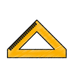 rule school supply icon vector image