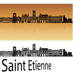 Saint etienne skyline vector