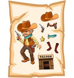 Saloon Cowboy vector