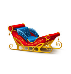santa claus christmas holiday sleigh vector image