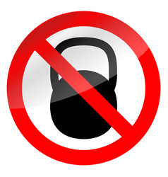 sign ban weights vector image