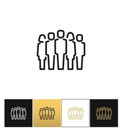 Staff group icon vector