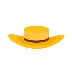 straw farmer hat design icon vector image