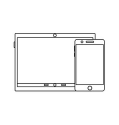 tablet device icon image vector image