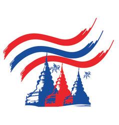 Thailand buddha vector