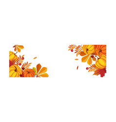 Thanksgiving banner with space for text bright vector