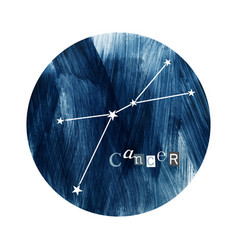 the cancer zodiac constellation vector image