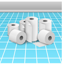 toilet paper roll tissue towel icon vector image