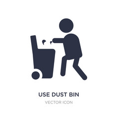 Use dust bin icon on white background simple vector