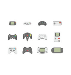 video games joystick icons set vector image