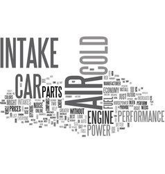 Why not a cold air intake text word cloud concept vector