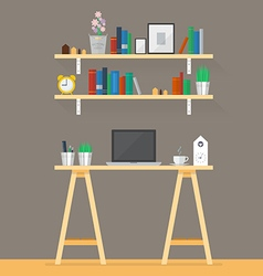 Working space in flat style vector image