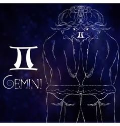 Zodiac sign of Gemini vector image