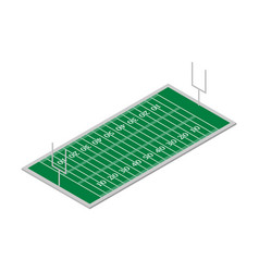field of play football isometric vector image