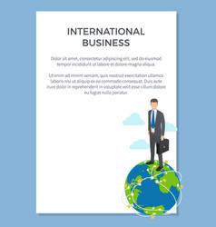international business poster vector image