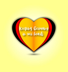 keeping germany in our hearts emblem vector image