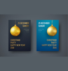 poster template for a christmas party vector image