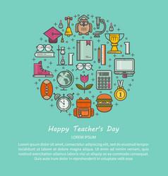 Teacher s day vector