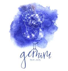 astrology sign gemini vector image
