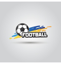 Ball symbol Ukraine Football Logo Badge Sport vector image vector image