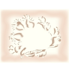 Flower in the form of a floral pattern EPS10 vector image