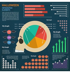 halloween infographic 1 vector image