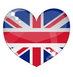hear britain flag vector image vector image