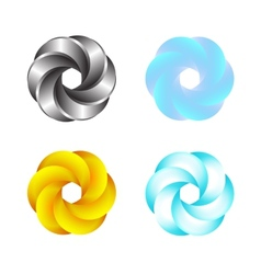Logo Or Emblem Template Abstract Swirl Icon vector image vector image