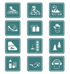 skating icons vector image vector image