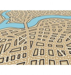 angled city vector image