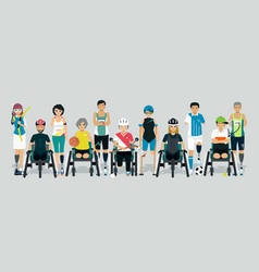 disabled athlete vector image vector image