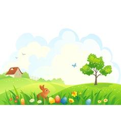 Easter scene vector