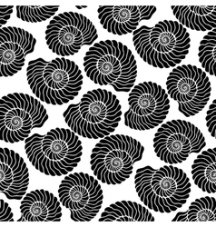 Graphic seashell pattern vector image