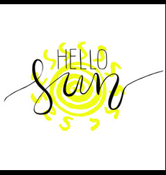 hand drawn lettering - sun vector image