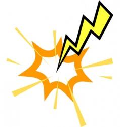 lightning strike vector image vector image
