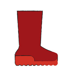 boot shoe icon image vector image vector image