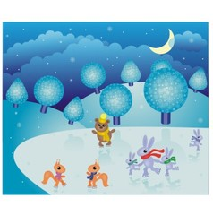 fairy-tale winter landscape vector image