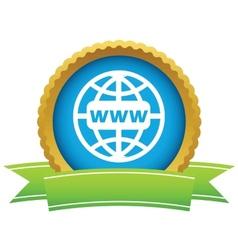 Gold www world logo vector image