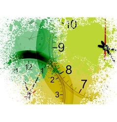 grunge clocks vector image
