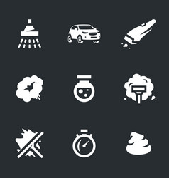 set of carwash icons vector image