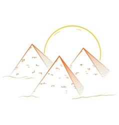 Three pyramids vector image
