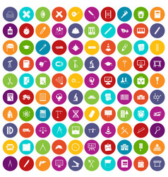 100 compass icons set color vector