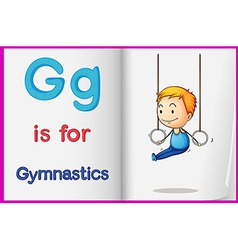 A picture of gymnastics in book vector