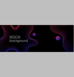 abstract dark long banner wavy minimal vector image