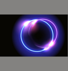 Abstract fantastic background with neon glow vector