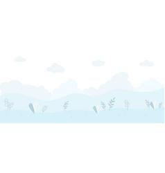Abstract floral natural seamless cartoon texture vector