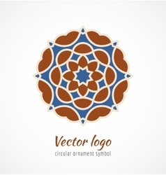 abstract red and blue asian ornament symbol logo vector image