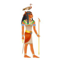 Ancient egyptian god geb deity earth vector
